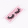 Qingdao soft hair hot pink glitter private label eyelash packaging box lashes eye 3D mink eyelashes wholesale from korea