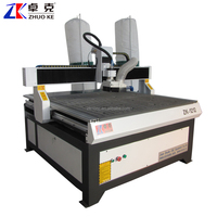 Mach3 Controller Advertising CNC Route Machine ZK-1212 1200*1200MM 380V 1.5KW China Water Cooling Spindle 120MM Z-Axis