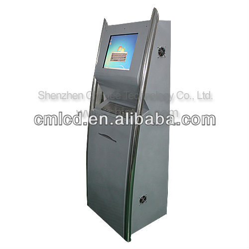 17inch lcd interactive multi touch screen self payment kiosk with terminal printer