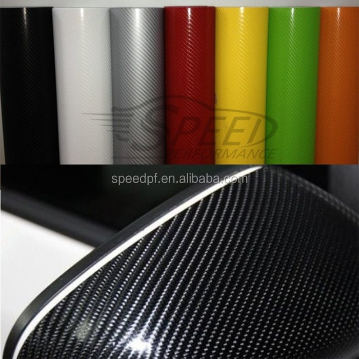 High glossy Car tuning accessories auto wrap 4d carbon vinyl