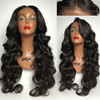 Unprocessed hair wig 100% Virgin brazilian hair full lace wig with baby hair
