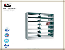 Factory supply school furniture wholesale movable metal library bookshelf