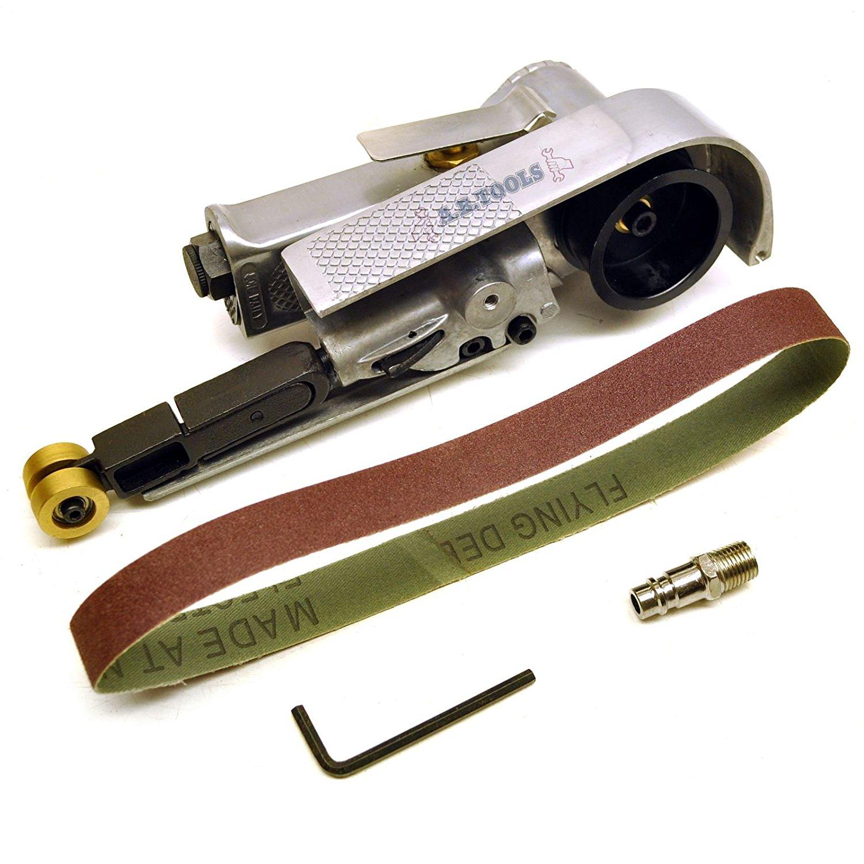 20mm Wide Air Finger Belt Sander Power File Detail Sander Sanding 50 Belts