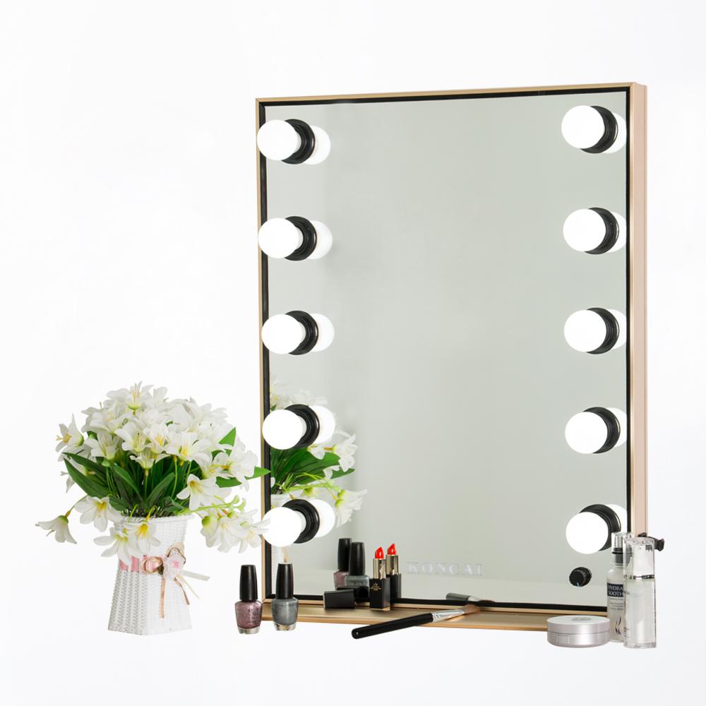 Aluminio marco vestidor Pie Grande LED espejo con luces-Espejo de ...