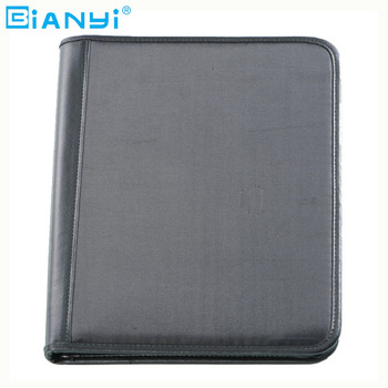 Zwart/bruin lederen multifunctionele manager portfolio a4 pu leather portfolio mappen & leather portfolio map