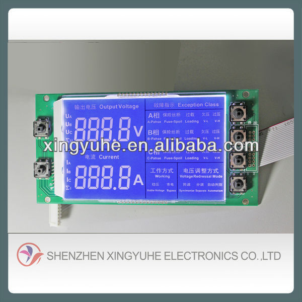 seven segment blue display lcd panel cost