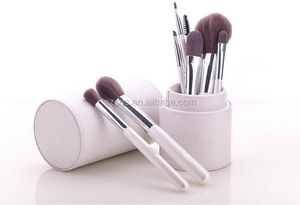 2015 hot sale stand up solid make up cosmetic brush storage case