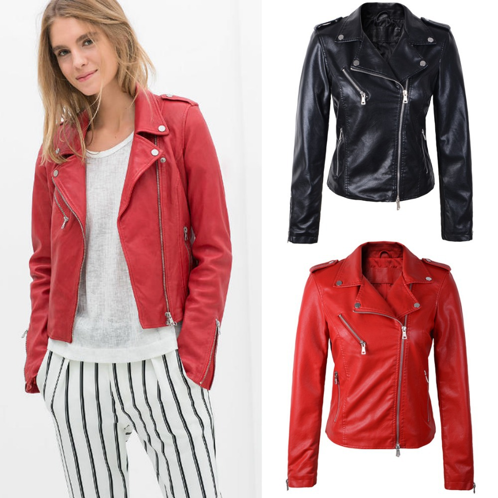 Spring leather jacket