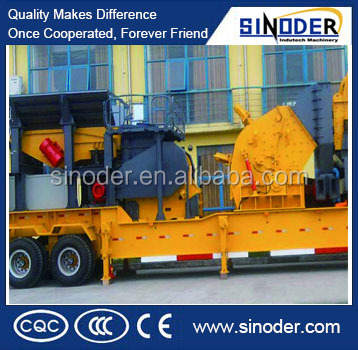 High efficiency Cone crusher mobile crushing plant /mobile crusher machine For Sale