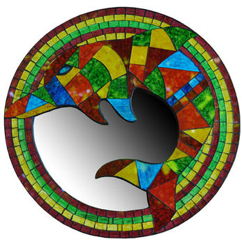 Bali Delphin Mosaik Spiegel Buy Bali Mosaik Spiegel Mosaik Runden Spiegel Mosaik Aus Glas Product On Alibaba Com