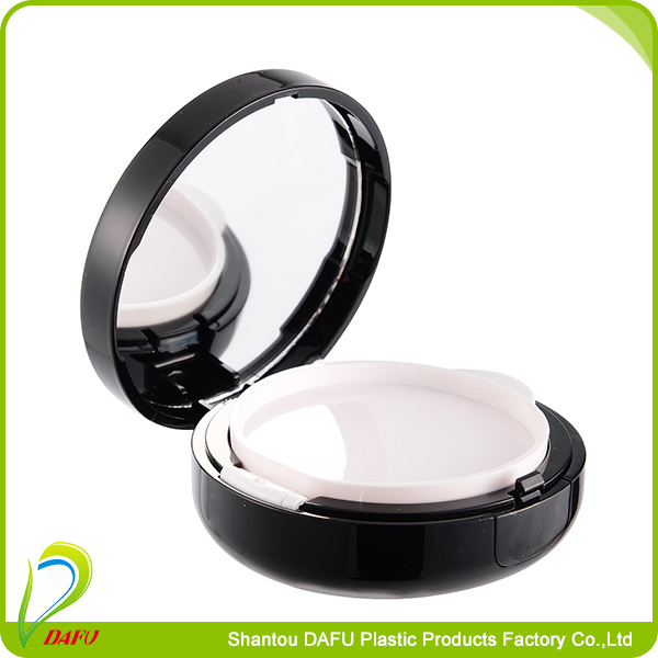 Cosmetic air BB cushion powder packaging case with mirror finish