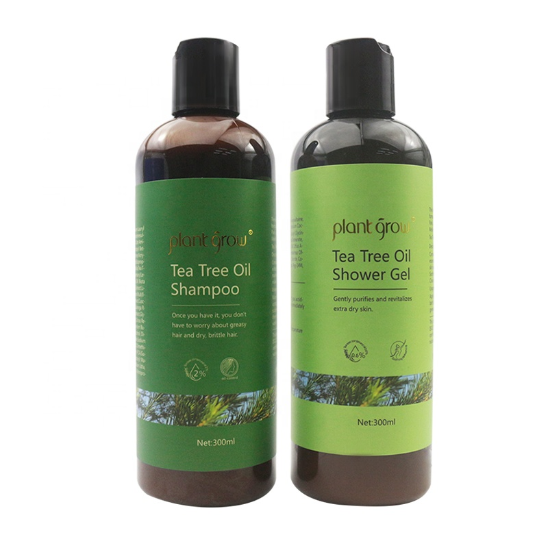 Hot Selling Plant Grow Organic Tea Tree oil natural Shampoo and Shower Gel For Hair Care Oil Anti-dandruff