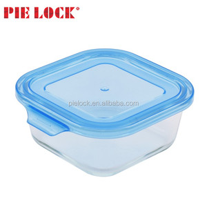 Home storage glass material heat resistant food keeper