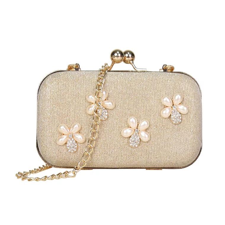 SABARRY Fashion PU Leather Pearl Handbag Cross Body Bag Shoulder Bag