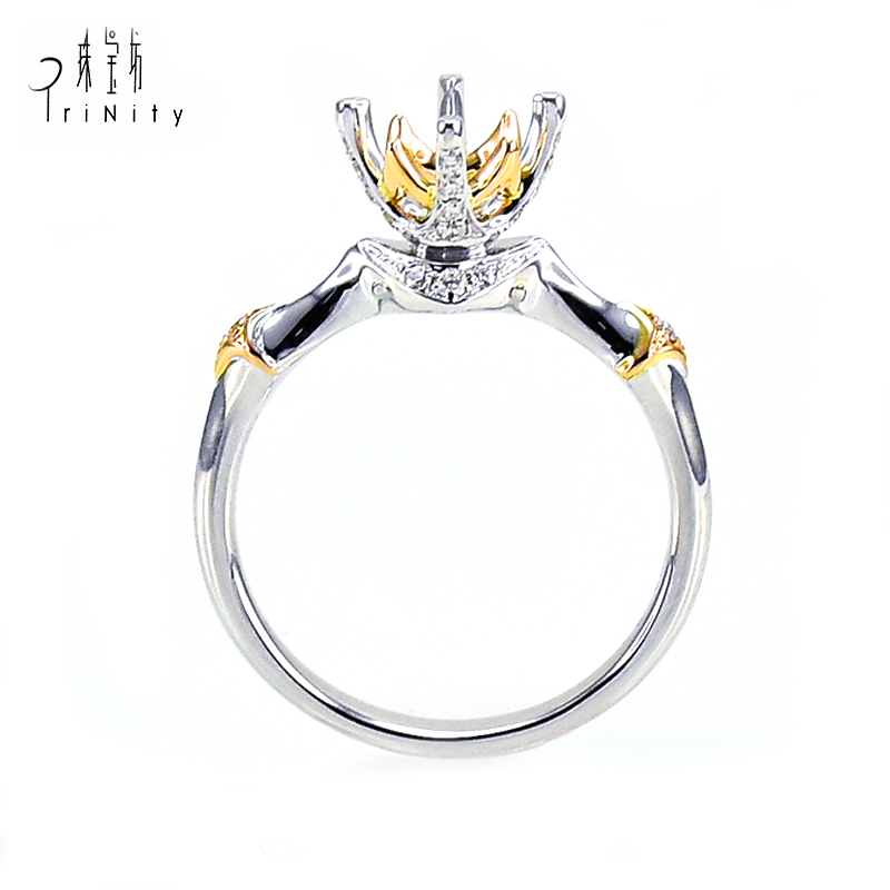 Hongkong Wholesale Custom Design Jewelry 18 Carat Yellow Gold Engagement <strong>Ring</strong> For Women