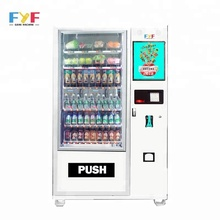 FYF smart electronic combo 19 inch touch screen machine vending for foods and drinks