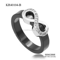 best design 925 sterling silver ring with ceramic latest release jewelry