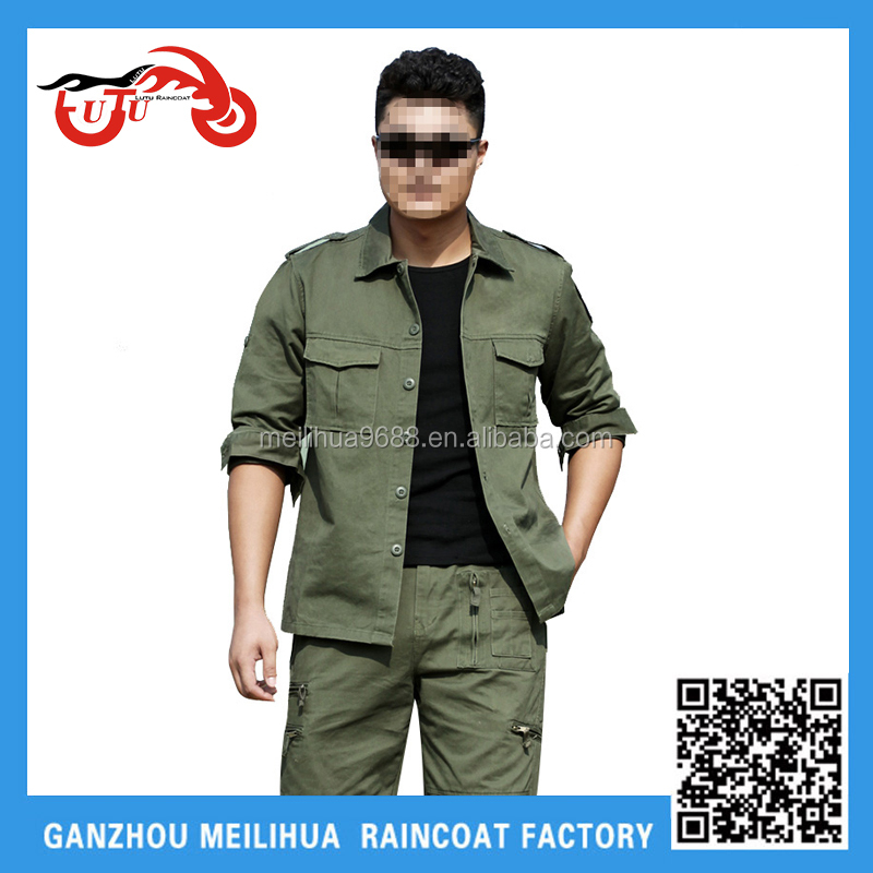 Custom High Quality Men's Breathable Olive Green BDU Army Military Uniform