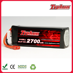 Great Power 2700mAh 22.2V 6S 30C RC LiPo Battery Pack for big RC Helicopter /Aircraft /Drone