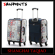 sanpoints pu makeup case and suitcase 2 piece luggage set