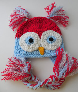 Baby Owl Hat 4th of July baby knitting hats newborn going home clothing 155035ee4447