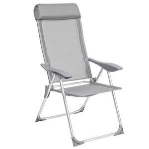 Outdoor furniture aluminum folding camping high back comfortable adjustable beach chair