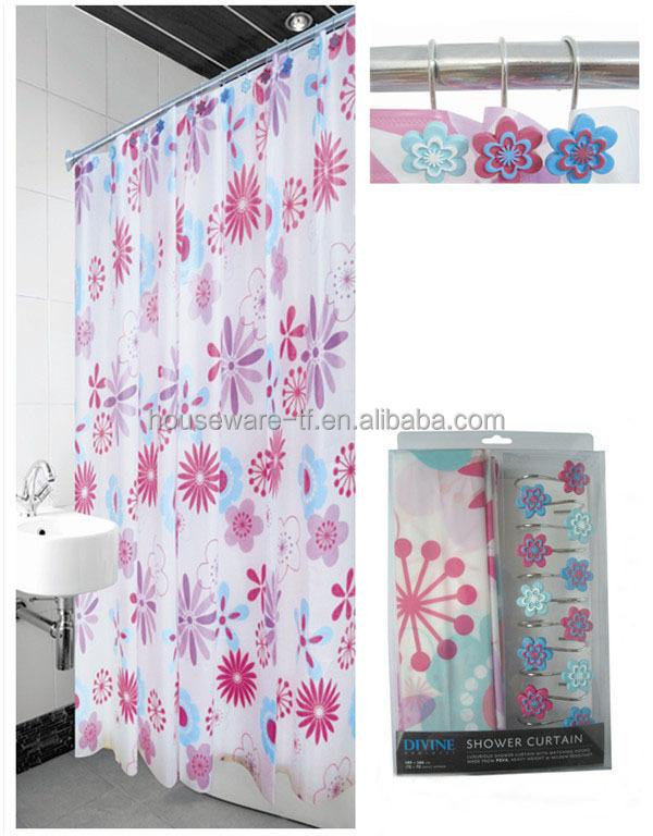 nouveau design fleur imprim tapis de bain et douche rideau ensemble rideau de douche id du. Black Bedroom Furniture Sets. Home Design Ideas