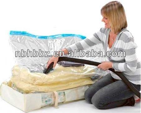 Plastic Vacuum Sealed Non Woven Storage Bag For Bedding In Home Storage