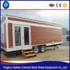 Wooden movable prefabricated green container house with wheels design shipping container homes for sale in usa
