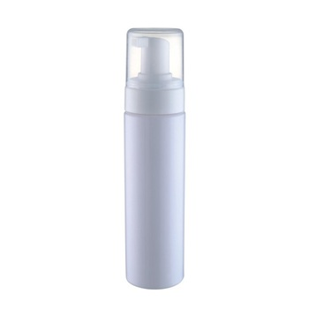 manufacturer 100ml 250ml white wash face pet plastic bottle with foam pump spray foam