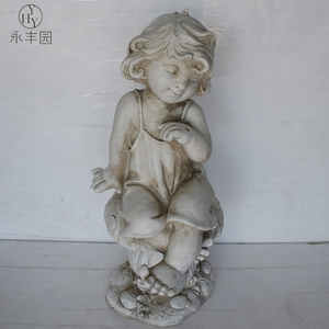 Cherub MgO Resin fiberglass Fairy Outdoor Craft Art Angel Statue