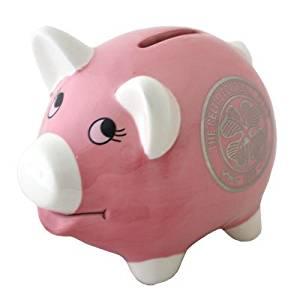 Celtic FC Piggy Bank - Pink - Football Gifts
