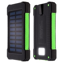 Portabel Solar Power Bank 20000 mAh power bank baterai charger