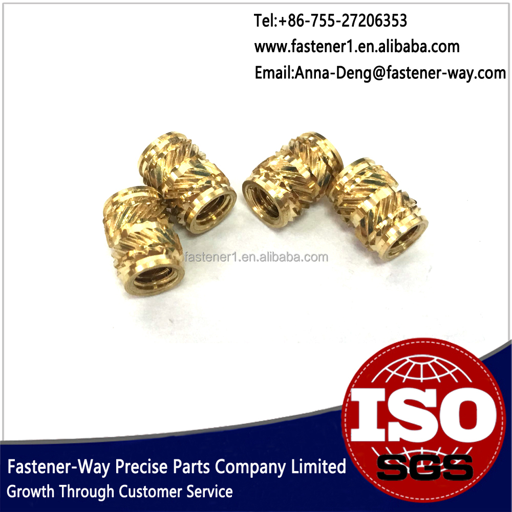 Knurled Thread Brass Insert Nut