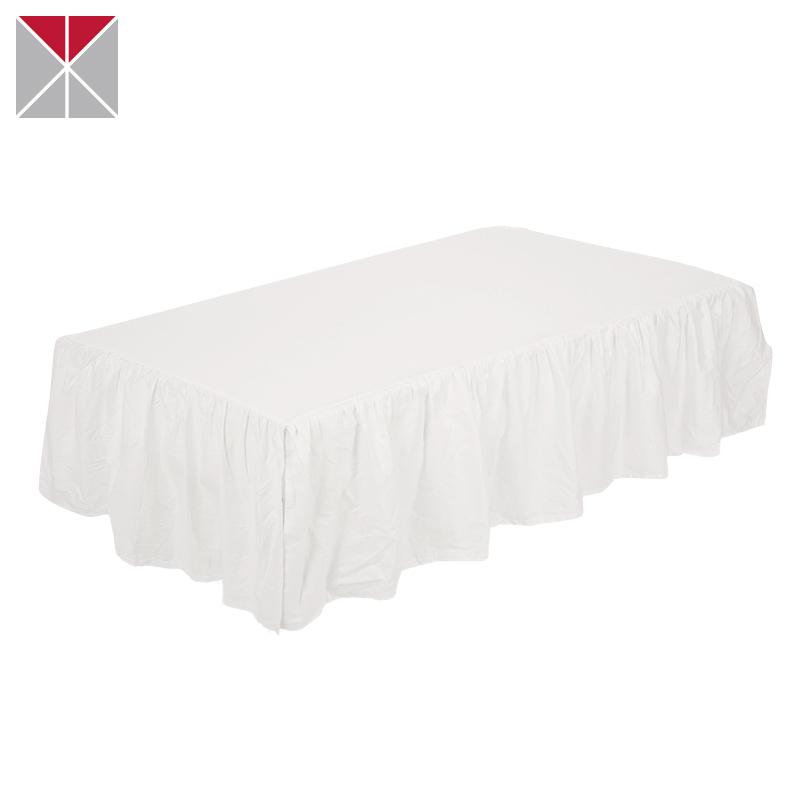White Crib Skirt for Baby Boys or Girls Dust Ruffle100% Cotton Nursery Crib Bedding Skirt