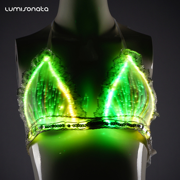 Luminous Glow In The Dark Beautiful Rave Party Bar Club Wear Women Sexy  Light Up Lingerie Led Bra - Buy Sexy Light Up Led Lingerie 768d379ae