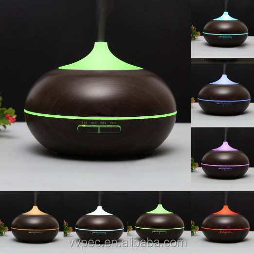 500ml dark wood grain electric aroma oil diffuser