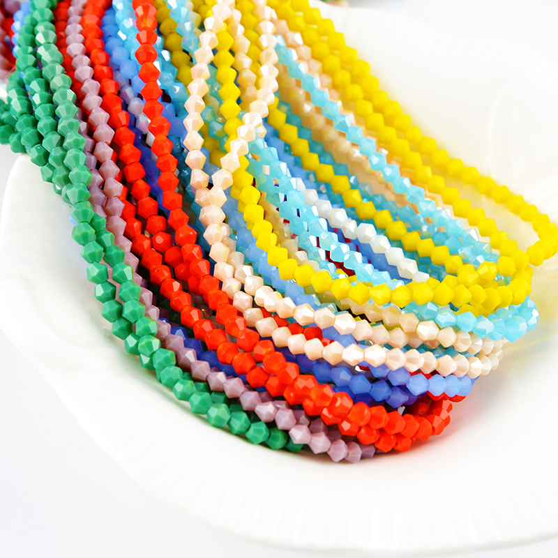 Factory Wholesale Cheap Bicone Beads,Glass Beads for Jewelry making, More than 100 colors