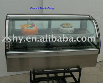 CE Counter Top Cake Display Showcase with LED Light