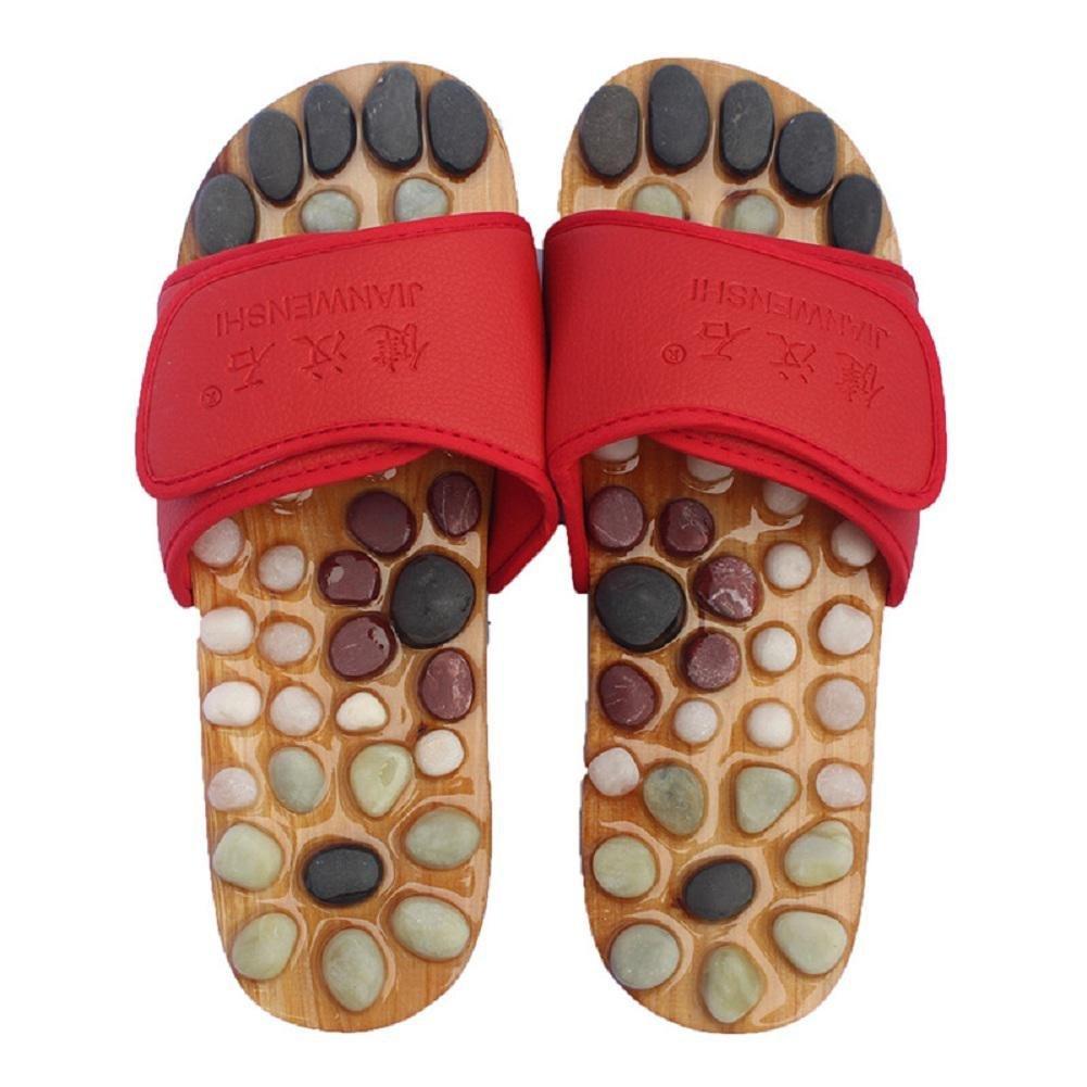 Healthcare Natural Cobblestone Foot Massage pebble massage slippers plantar acupuncture points Shoes