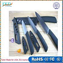 "Zirconia ceramic knife set 3"" 4"" 5"" 6"" inch + Peeler + covers black blade black colors handle home kitchen knives"