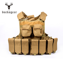 Military clothes bulletproof tactical vest with equip quick-release system