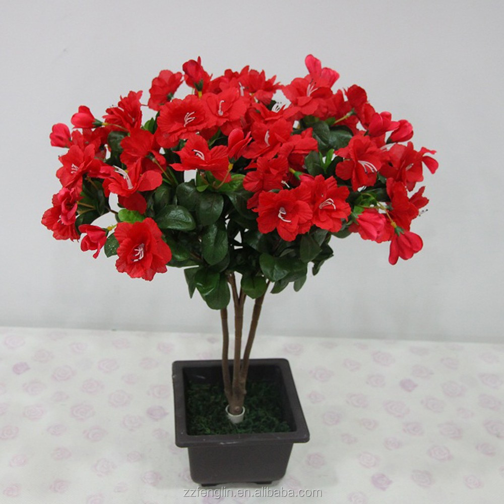 Hot sale 55cm factory fake flower bush wholesale artificial azalea hot sale 55cm factory fake flower bush wholesale artificial azalea flower marking for indoor decoration buy artificial azalea flowerfake flower bush izmirmasajfo