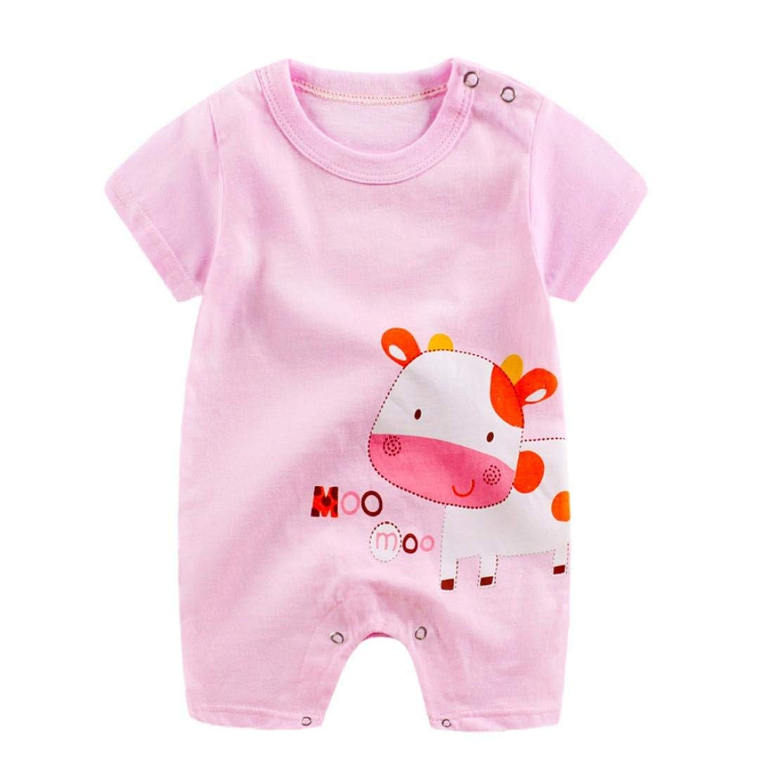 820ab6514 Get Quotations · Fabal Baby Girls Clothing Cute Cartoon Short Sleeve  Newborn Romper Blanket Sleepers Baby Girl Clothes