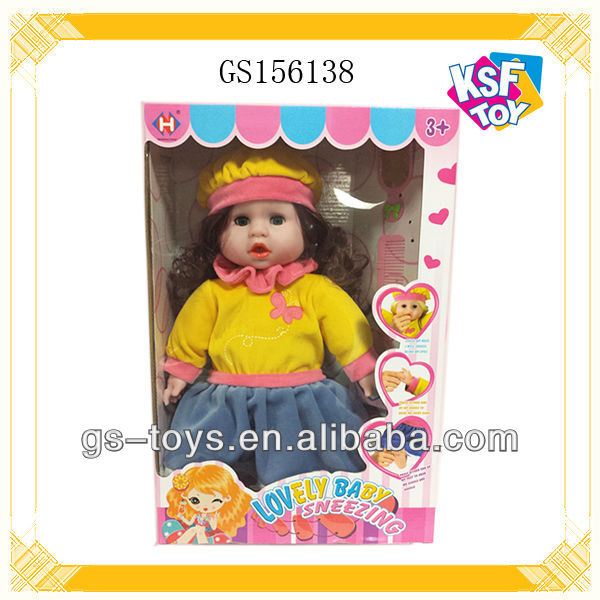 Electric Plastic Fashion Girl Doll With Accessory 17 Inch Cute Doll With 5 Sounds
