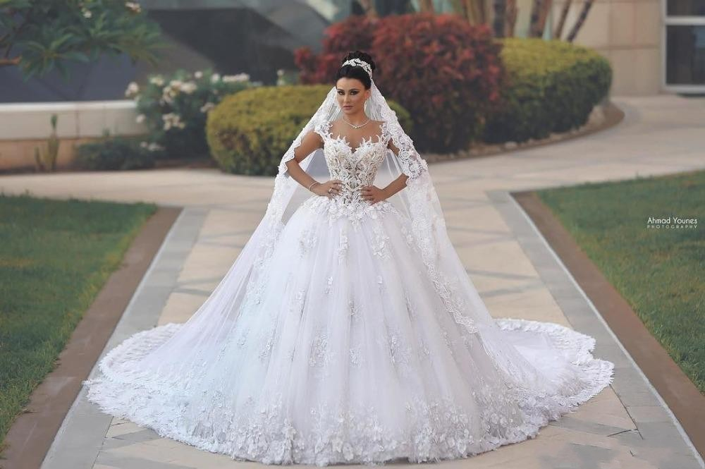 Zh g luxury princess ball gown wedding dresses vestido de noiva