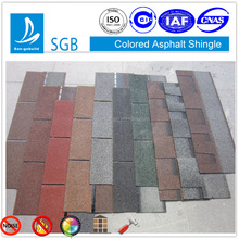 Hotsale modern villa house roofing design lightweight roof sheet materials San-gobuild asphalt shingle step tile roof