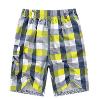 Fashion style cotton yarn dyed check design casual mens shorts