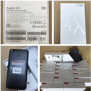 Physical stock in HK Black&Gold Color Xiaomi Redmi 4X 3+32G EU Global Version MAG138 Mobile phone