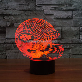 stl drop ship nfl new york jets football helmet led light 7 color table lamp colorful